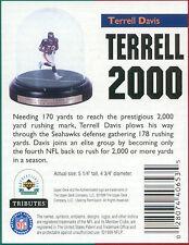 Upper Deck Tributes TERRELL DAVIS hand-painted Porcelain FIGURINE Broncos NIB