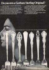 1969 Gorham Silverware Camellia-Chantilly-La Scala-Fairfax-Rose Pattern PRINT AD