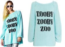 NWT Wildfox White Label Zooby Zoo California Dream Sweater Sz L