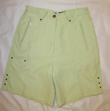 JAMIE SADOCK light spring green soft sateen  golf bermuda shorts 6