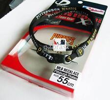 PHITEN X30 MLB PITTSBURGH NECKLACE  BLACK RED 55CM