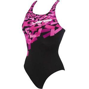Arena Damen Kristall one piece Schwimmen Training Badeanzug Kostüm - Pink - 42