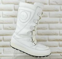 TIMBERLAND Waterproof Womens White Leather Mukluk Winter Boots Size 6.5 UK 40 EU