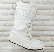 TIMBERLAND Waterproof Womens White Leather Mukluk Winter Boots Size 6.5 UK 40 EU