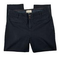Anthropologie Women 6 The Essential Slim Ankle Pants Slacks Skinny Black