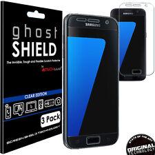 3x TECHGEAR CLEAR (TPU) FULL COVERAGE Screen Protectors for Samsung Galaxy S7