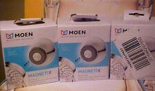 Lot of 3 MOEN Magnetix Remote Shower Heads Dock Chrome Finish 196117 NEW