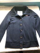 Hollister Women's Medium Navy Blue Button Up Jacket