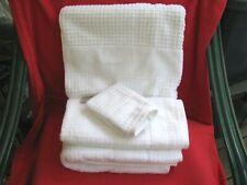 White Kassatex 4 Pc Towel Set 2 Bath, 1 Hand & Washcloth Balnea 100% Cotton