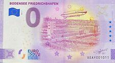 BILLET 0  EURO  BODENSE FRIEDRICHSHAFEN  ALLEMAGNE 2021 NUMERO SUITE 1011
