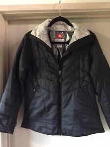 Columbia Women's Black Omni-Heat Interchange Jacket Size M Excellent Condition