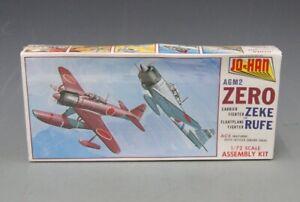 Jo-Han 1/72 A6M2 Zero Carrier Zeke/Floatplane Fighter Rufe A-105, NEW, L-2153