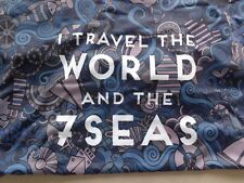 """Suitcase cover : Eurythmics lyric """"I Travel The World and the Seven Seas"""""""