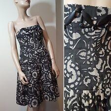 🦄 Diane Von Furstenberg Size 8 DVF Silk Linen Strapless Beaded Mini Dress Party