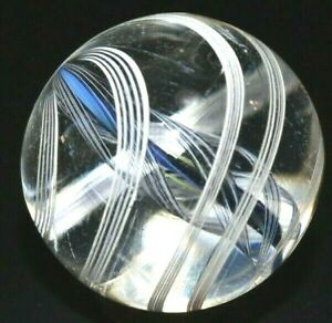 """ART HANDMADE GLASS MARBLE/.923""""-7 DIVIDED RIBBON SOLID CORE MIMIC-WORLDWIDE FAST"""