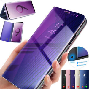 Hülle Samsung Galaxy S8 S9 S10 S20 S21 Handy Schutz View Cover Flip Case Tasche