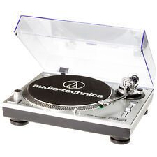 Audio-Technica AT-LP120 USB DJ Plattenspieler silber incl. AT95 + Haube