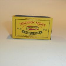 Matchbox Lesney 21 b2 Long Distance Coach Bus empty Repro B style Box late issue