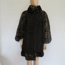 Fendi Brown Persian Lamb/ Mink Fur Cape Coat w/Scarf Size 42