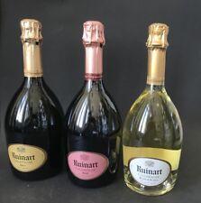 3x RUINART champagne Bouteille 0,75 L soirée brut rose blanc champagne 12,5% vol