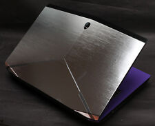 KH Special Laptop Color Metal drawing Leather Skin Fit Alienware 2015 NEW M15x