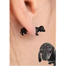 1pcs Women  Punk Rock Dog Impalement Pearl Animal Stud 3D Puppy Earrings