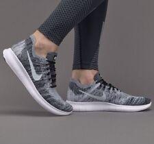 Nike Free RN Flyknit 2017 Negro Blanco 'Oreo' Uk Size 8 EUR 42.5 880843-003