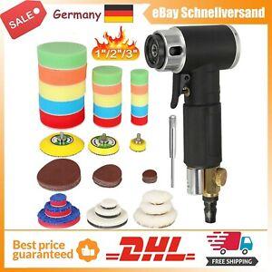 """Druckluft Exzenterschleifer Mini 1""""/ 2"""" / 3"""" Poliermaschine Auto Polierer Set DE"""