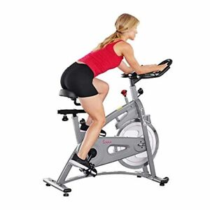 Silver Magnetic Belt Drive Cycling Spin Bike, Pulse Sensor, LCD Monitor w/ RPM