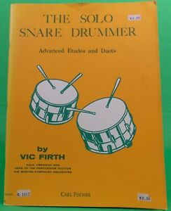 The Solo Snare Drummer Advanced Etudes and Duets Vic Firth  Drums Only Vint 1983