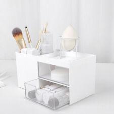 Home Cosmetic Storage Box Desktop Plastic Storage Rack Organise Box w/Drawer New
