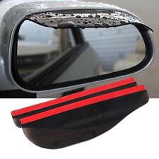 1 Pair Car Rear View Wing Mirror Black Sun Visor Shield Rain Board Eyebrow Guard
