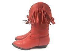 Da Donna Durango Twisters 365 Stivali Rossi Da Cowboy Cowgirl Reale Vera Pelle MISURA 4