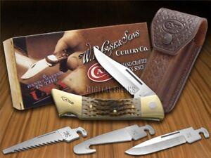 Case xx xx-Changer Knife Jigged Amber Bone Hunting Stainless Pocket Knives 00110