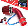 """Red 2.5""""-3.0"""" Universal Cold Air Intake Induction Hose Pipe Kit System Filter"""