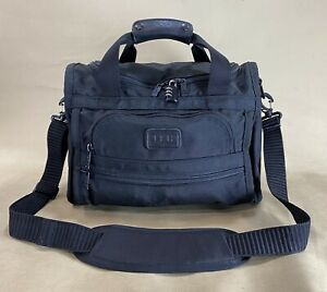 "Vintage Tumi USA Black Ballistic Nylon 14"" Compact Carry On Tote Gym Bag"