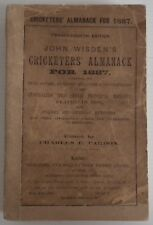 1887 WISDEN CRICKETERS' ALMANACK -  IN ORIGINAL WRAPPERS WITH REPLACEMENT SPINE