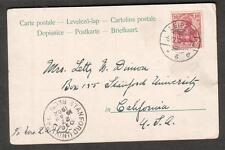 Germany 1902 Christmas post card Leipzig to Letty W Duison Stanford University