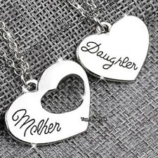 Mother and Daughter Silver Necklaces Set Women Gifts for Her Mum Xmas Present E5
