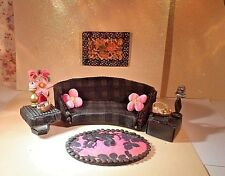 Petite Princess Doll House Recreated Couch/Sofa,Tables, Rug, Extras, Lundby Size