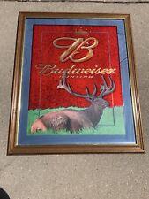 W@W Budwesier Elk Hunting Beer Bar Pub Mirror Man Cave Cabin Wisconsin Fun