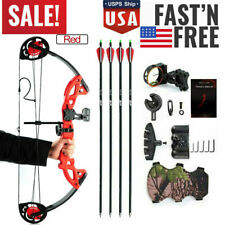 Archery Hunting Compound Bow 15-29 lbs Pro Right Hand Kit Bow Target Practice US