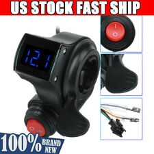 4//36//48//60V Electric Scooter E-Bike Throttle Grip Handlebar LED Digital Meter US