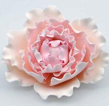 Pink Curl Peony Sugar flower wedding birthday cake decoration topper