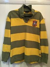 Genuine Men's Barbour Rugby Shirt Size Large Very Good Condition Striped