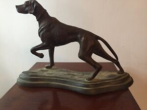 Antique bronze figure  Of Dog Good condition size  12ins Long 8ins High