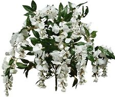 "White Wisteria 24"" Bush Poly Silk Wedding Bridal Home Office Decor Craft Flower"
