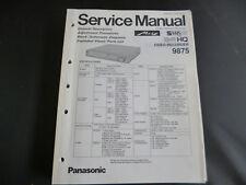 Original Service Manual Panasonic 9875