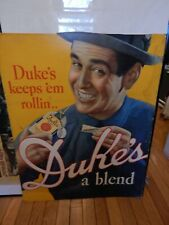 Original Vintage Duke's Mixture Tobacco Cardboard Sign- Free Shipping Weekend