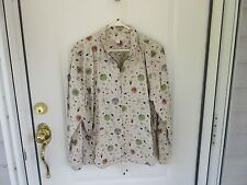 Christopher and Banks Ladies Size XL Gardening Theme Jacket with Off-white Backg